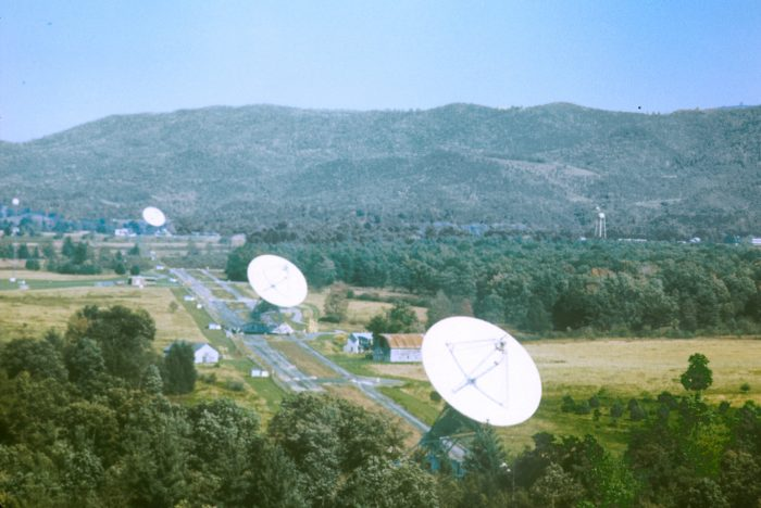 green bank interferometer, color image of the array