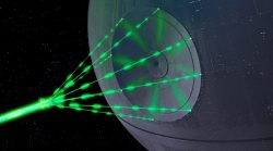 Star Wars Death Star laser