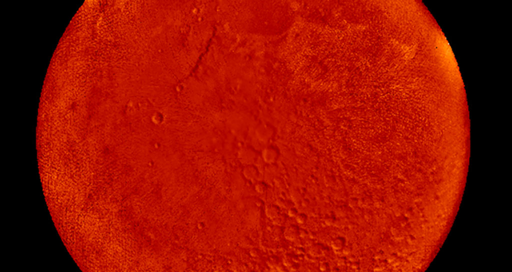 high resolution image of the moon. MUSTANG image